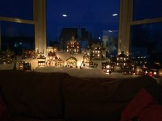 Pretty much how I decorate my bay window for Christmas ...