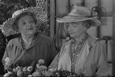 Charity Grace and Gladys Hurlbut as Jennifer and Clarabelle Morrison- The Morrison sisters with the still and greenhouse