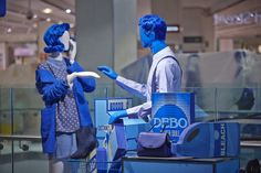 "DEBENHAMS, London, England, ""I saw Ben for the first time at The Blue Rinse Checkout, it was LOVE at first sight"", pinned by Ton van der Veer"