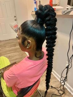 Hair Ponytail Styles, Weave Ponytail Hairstyles, Sleek Ponytail, Baddie Hairstyles, African Braids Hairstyles, High Ponytail Braid, Curly Hair Ponytail, School Hairstyles, Updo Hairstyle