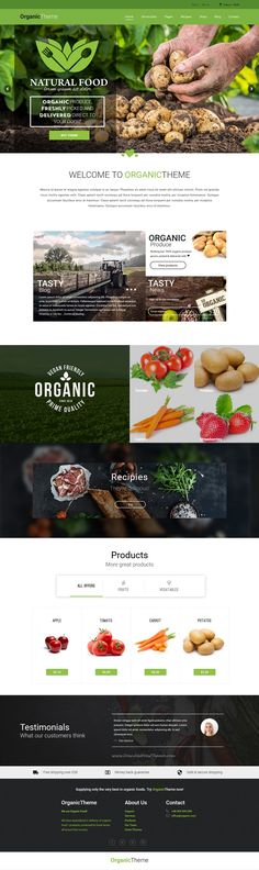 ORGANIC is wonderful 4 in 1 WordPress #Theme for Organic Farm & Food #Business website download now➝ https://themeforest.net/item/organic-organic-farm-food-business-wordpress-theme/16183215?ref=Datasata