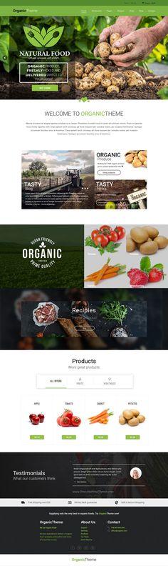 ORGANIC is wonderful 4 in 1 WordPress for Organic Farm & Food w - Wordpress Minimal Theme - Ideas of Wordpress Minimal Theme - ORGANIC is wonderful 4 in 1 WordPress for Organic Farm & Food w WordPress Ecommerce Theme ORGANIC is wonderful 4 in 1 WordPress Design Websites, Food Design, Design Design, Nature Design, Mise En Page Web, Wordpress Website Design, Website Themes, Website Designs, Layout