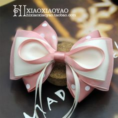 bow idea, love the top thin ribbon and thicker layers underneath Ribbon Hair Bows, Diy Hair Bows, Ribbon Work, Thin Ribbon, Diy Headband, Baby Headbands, Fabric Bows, Fabric Flowers, Hair Bow Tutorial