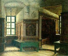Johan Krouthén (1859-1932): interior fran gripsholms slott, 1879-80