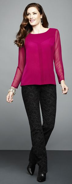 Cleo - Every Body Fit Brocade Pant