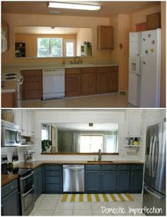 Before and After: Teeny Tiny kitchen Cheap Makeover. What an amazing ...