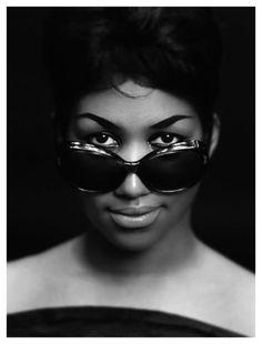 Vintage photo of Aretha Franklin