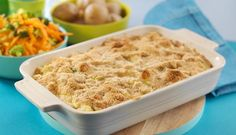 Denne oppskriften på fiskegrateng med makaroni er en rett for hele familien. Server med det tilbehøret dere liker best. Vi foreslår råkost og kokt potet. Cod Recipes, Cooking Recipes, Fish And Seafood, I Love Food, Macaroni And Cheese, Food And Drink, Yummy Food, Favorite Recipes, Dessert