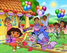 Dora è un personaggio magnifico, pieno di senso dell'umorismo pronto a restituire tutte le sue avventure che i bambini hanno.