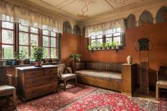 Absolutely stunning arts and crafts/art nouveau house in Sweden from the 1920's.