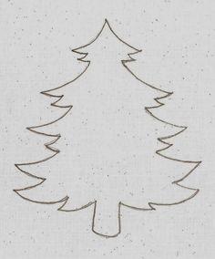 Kreatív gyűjteményem: Sablonok - fenyőfa