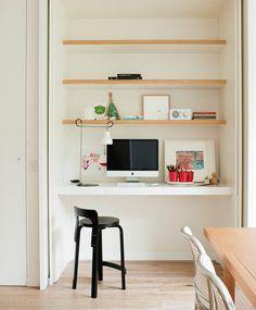 17 Trendy Home Office Nook Daybeds Computer Nook, Desk Nook, Office Nook, Home Office Space, Study Office, Home Office Design, Closet Office, Desk Space, Closet Desk
