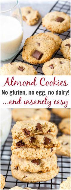 Almond cookies! Dairy, egg, grain free
