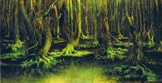 William Degouve de Nunques, The Leprous Forest 1898 GO Fine Art Gallery: