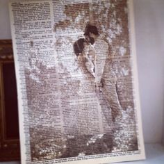 Print pictures on old book pages. Looks amazing. by My.Life.With.Aspergers