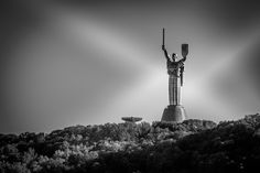 The Motherland Monument Museum Displays, Flower Show, Urban Photography, Black And White Photography, Statue, Street, World, Black White Photography, City Photography