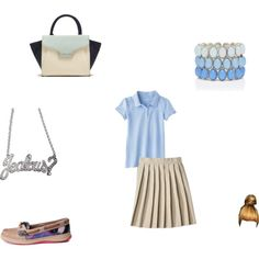 School #2 by babygirl-kennedy on Polyvore featuring Sperry Top-Sider, Vince Camuto, Forever New, Rock Rebel and French Toast