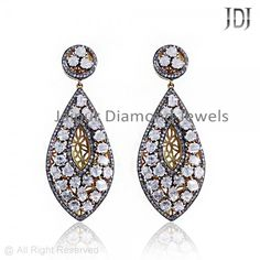 14K Gold Moonstone Pave Diamond Earrings #diamond #handmade #earrings #beauty #gold #wedding #instafashion #beautiful