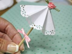 DIY Paper Doily Parasol Picks : Factory Direct Craft Blog
