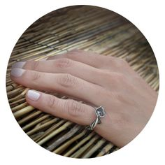 Handmade Spiral Silver Pinky Ring Sterling Silver by Jewellietta