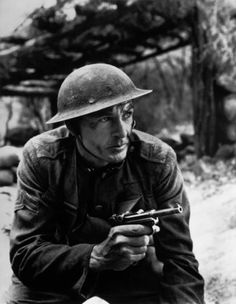 "Gary Cooper during the filming of ""Sergeant York"""