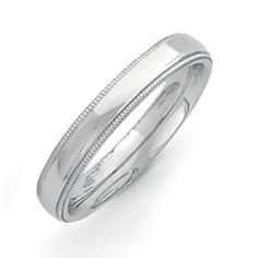 Palladium Milgrain Comfort Fit 4.00mm Band Jewelrypot. $377.99. 30 Day Money Back Guarantee. All Genuine Diamonds, Gemstones, Materials, and Precious Metals. Your item will be shipped the same or next weekday!. 100% Satisfaction Guarantee. Questions? Call 866-923-4446. Fabulous Promotions and Discounts!. Save 46% Off!