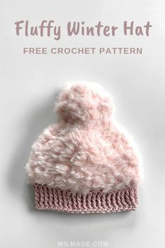 Fluffy Winter Hat - free crochet hat pattern available in sizes toddlers, tweens and adults. Including video tutorial. #crochet #pattern #crochetpattern #free #freepattern #hat #crochethat #beanie #crochetbeanie #lionbrand #goforfaux #katia #polar #katiapolar #fluffy #cap #crochetcap #crochetgifts #diy #howto #crafts #beginners #forbeginners #easy #easypattern #baby #kids #toddler #adult #men #women #winterhat #babyhat