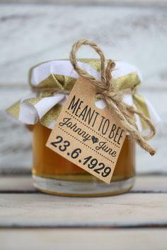 Mini Jam and Honey Jar Wedding Bonbonniere by LittleBowThief