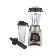 Vitamix scales it down for personal blending without sacrificing any of its renowned features. With the power, durability and versatility of any Vitamix product, this brushed stainless S-Series personal blender is a compact countertop option with four pre-set functions (dips and spreads, smoothies, frozen desserts and power blends) taking the guesswork out of processing times.
