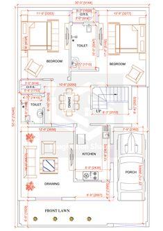 home design plans 2bhk House Plan, Model House Plan, House Layout Plans, Duplex House Plans, Family House Plans, Best House Plans, Dream House Plans, 3 Storey House Design, Duplex House Design