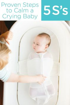 """Steps to calm a baby. Based on the best selling book, """"Happiest Baby on the Block"""" by Dr. Here are 5 easy steps to help your baby transition from the womb and learn to sleep well. The Babys, Baby Information, Newborn Care, Baby Newborn, Everything Baby, Baby Time, Happy Baby, Baby Hacks, Baby Sleep"""