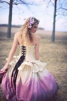 Silk ombre dress
