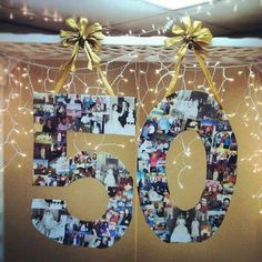 Best Wedding Anniversary Decorations Ideas For Parent . Parents Anniversary, 60th Anniversary, Anniversary Parties, 50th Anniversary Decorations, Diy 50th Birthday Decorations, Wedding Decorations, Table Decorations, Moms 50th Birthday, Birthday Book