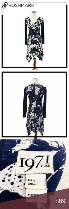Selling this 1971 REISS Ella Cloud Print Dress Long Sleeve on Poshmark! My username is: lindslonadier. #shopmycloset #poshmark #fashion #shopping #style #forsale #Reiss #Dresses & Skirts