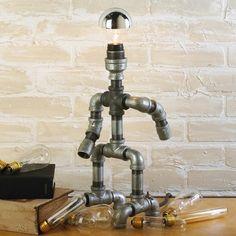 Plumbing pipe robot lamp