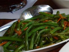 Garlic Green Beans Recipe served at Liberty Tree Tavern in Magic Kingdom at Disney World