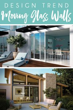 Learn how to choose the right type of moving glass walls for your home from bi-fold, stacking, and pocket options. Beautiful Home Gardens, Beautiful Homes, Outdoor Rooms, Outdoor Living, Outdoor Decor, Glass Wall Systems, Studio Shed, Folding Walls, Glass Walls