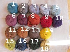 Veilleuse balladeuse en laine couleur dispo .... — LES PETITS BOHEMES
