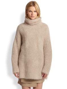 Helmut Lang angora-turtleneck-sweater-