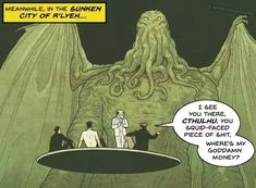 Tagged with comics, cthulhu; Shared by A Cthulhu never pays his debts Dnd Funny, Funny Puns, Hilarious, Call Of Cthulhu Rpg, Lovecraftian Horror, Dungeons And Dragons Memes, Hollow Art, Dragon Memes, Funny Pictures Can't Stop Laughing
