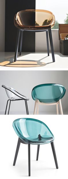 Calligaris Bloom Chair with Wood Legs