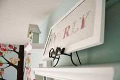 cute baby name framed sign in the nursery