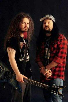Dimebag Darrell & Vinnie Paul #Pantera #Damageplan