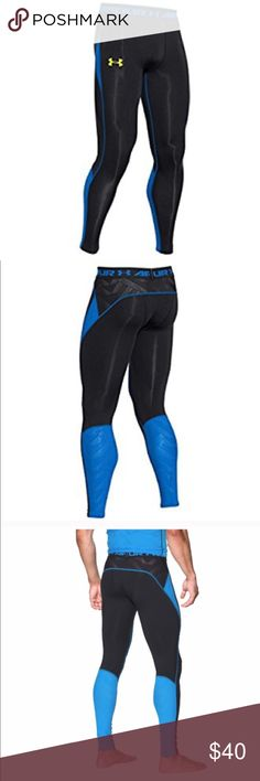 """Under Armour men's HeatGear® fabric, with all the benefits of UA Compression, ArmourVent™ mesh panels deliver true breathability in a light, stretchy, durable, fast-drying fabric. 4-way stretch fabrication allows greater mobility in any direction. Moisture Transport System wicks sweat & dries fast. Anti-odor technology prevents the growth of odor causing microbes. Engineered elastic waistband with ARMOUR wordmark. Inseam: 26.5"""". Body: 7.0 oz. 84% Polyester / 16% Elastane. Mesh: 5.2 oz…"""