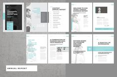 Annual Report by Egotype on @creativemarket