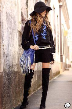Boho chic #ootd #boho dress #blackandblue #overtheknee #fashioncoolture