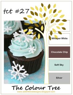 addINKtive designs: Christmas at The Colour Tree # 27 - Whisper White, Chocolate Chip, Soft Sky and Silver