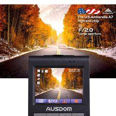 Amazon.com: AUSDOM Dashboard Camera Recorder - Dash Cam Car DVR with 180 Degree Wide Angle Lens, Super Night Vision, G-Sensor, and Parking Monitor: Car Electronics