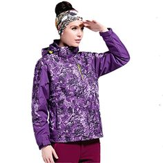 Zestway Womens Waterproof Mountain Jacket Winter Outdoor Fleece Windproof Ski Jacket 2 Pieces Purple 4XL >>> You can find more details by visiting the image link. (This is an affiliate link)