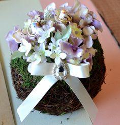 """Secret Garden"" ringpillow for wedding"